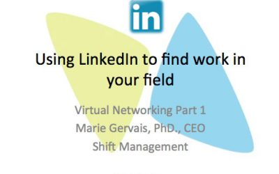 Virtual Networking: Using LinkedIn to find work