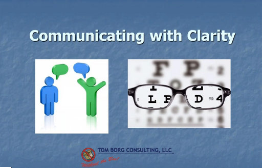 Communicating with clarity